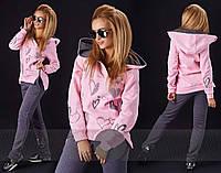 Женский стильный спортивный костюм двухнить 220
