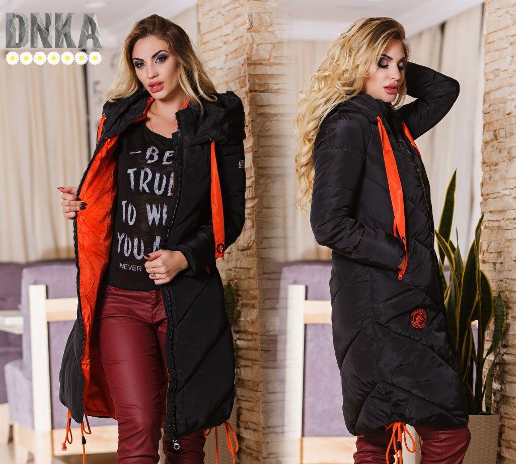 Стильное зимнее пальто (3 цвета)
