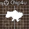 Чипборд Карта Украины, 61х41 мм