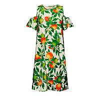 Трикотажное платье с набивным рисунком, цвет белый, фото 1