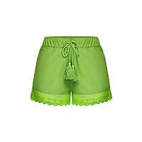 Шорты с кружевом для девочки, цвет сочно-зеленый
