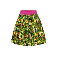 Юбка с тропическим рисунком для девочки, мультицвет, фото 1