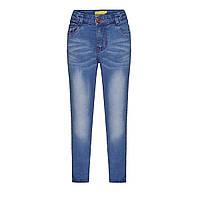 Узкие джинсы для девочки, цвет голубой