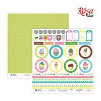 Лист бумаги для скрапбукинга «Cake delicious» 6, 30х30 см