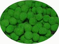 Помпон зеленый, 2.5 см, 50 штук