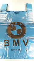Пакет майка тип БМВ 43х75  Киев цветной (50 шт)