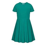 Трикотажное платье с коротким рукавом для девочки, цвет морской