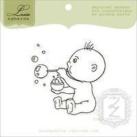 Штамп Мальчик дует пузыри, 5,4х5,4 см