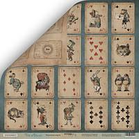 Бумага для скрапбукинга Time to Dream, Игральные карты, 30х30 см