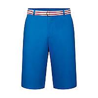 Шорты с ремнем для мужчины, цвет ярко-голубой
