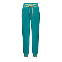 Трикотажные брюки для девочки, цвет бирюзовый