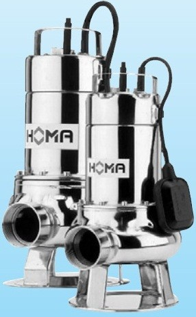 Дренажні та каналізаційні насоси HOMA (св. прохід 28-65 мм)