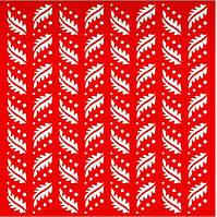 Трафарет Листики, 18х18 см, многоразовый