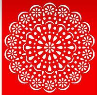 Трафарет Цветок, 18х18 см, многоразовый