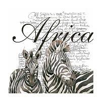 "Салфетка для декупажа ""Africa"", 33*33 см"
