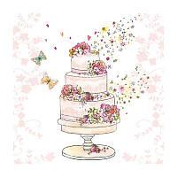 """Салфетка для декупажа """"Свадебный торт"""", 33*33 см"""