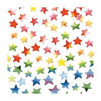 """Салфетка для декупажа """"Акварельные цветные звезды"""", 33*33 см"""