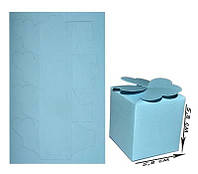 Коробочка из дизайнерского картона, Голубая