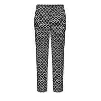 Зауженные брюки из жаккарда, цвет черный