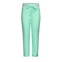 Трикотажные брюки с кружевом для девочки, цвет ментоловый