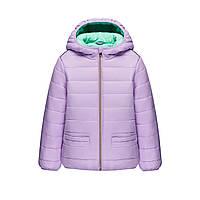 Утепленная куртка с капюшоном для девочки, цвет лиловый