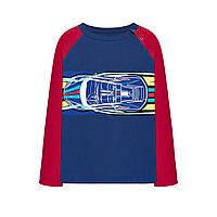 Двухцветная футболка с принтом для мальчика, цвет темно-синий, фото 1