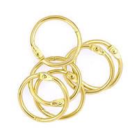 Кольцо для альбома 30 мм 1 шт, золотистое