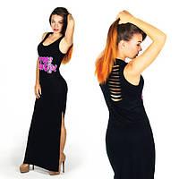 """Летний женский длинный сарафан с прорезями 891 """"Dress Me Up"""" в расцветках"""