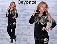 """Стильный женский велюровый спортивный костюм """"Beyonce"""""""