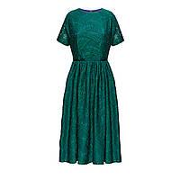 Платье из кружева «Папоротник», цвет морская волна