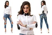 """Модная стильная женская рубашка """"Латки Бабочка"""""""