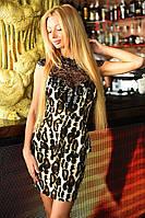 """Элегантное короткое женское платье 2059 """"Баска Макраме Лео"""""""