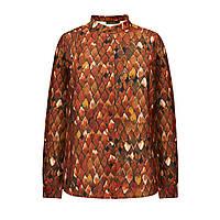 Блузка «Жар-птица», цвет коричневый, фото 1