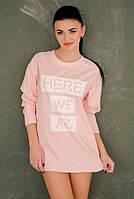 """Женская стильная туника-платье 3027 """"HERE WE ARE"""""""