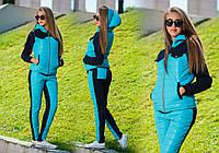 """Женский стильный утеплённый костюм-тройка 781 """"Синтепон Тройка Кармашки"""" в расцветках"""