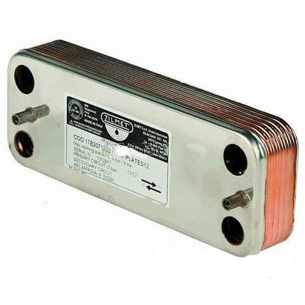 17B1901800 вторинний Пластинчастий теплообмінник ZILMET 18 пластин Ariston UNO.