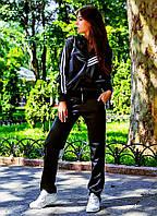 """Женский стильный спортивный костюм на флисе 1-328 """"Эластан Лампасы"""""""