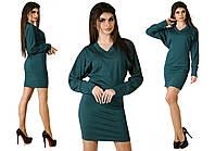 """Женское стильное короткое платье-туника 1101 """"Трикотаж Кимоно Манжет"""" в расцветках"""