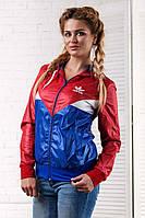 """Женская стильная куртка-ветровка 2052 """"Адидас Вышивка"""""""