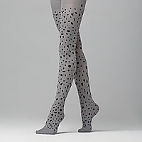 Колготки детские с леопардовым принтом, плотность 50 den, цвет серый
