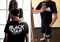 "Мужской летний спортивный костюм с шортами ""BLACK STAR MAFIA"""