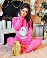 """Женский стильный махровый костюм-пижама 915 """"Мишка"""""""