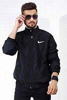 """Мужская стильная куртка-ветровка на флисе """"NIKE"""""""