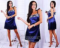 """Женская стильная ночная сорочка 035 """"Атлас Кант Орнамент"""""""