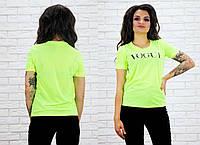 """Женская стильная футболка 2106 """"Vogue"""" в расцветках"""