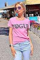 """Женская стильная футболка 9058 """"VOGUE"""" в расцветках"""