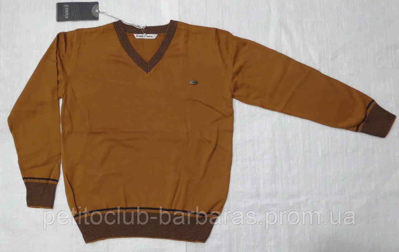 Пуловер для мальчика горчичный р. 134-164 см (InCity, Турция)