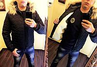 """Мужская зимняя куртка синтепон + мех 1060 """"Аляска Соты"""""""