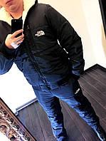 "Мужской зимний спортивный костюм синтепон + мех 1061 ""The North Face"""