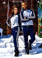 """Мужской тёплый спортивный костюм на байке 852 """"Adidas"""""""